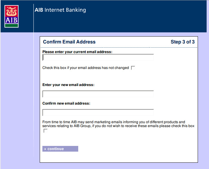 Fake AIB Email