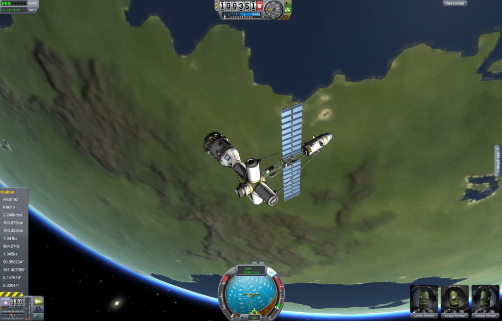 I messed up when I built the station. There's a docking bay at the end but it's turned the wrong way. Argh!