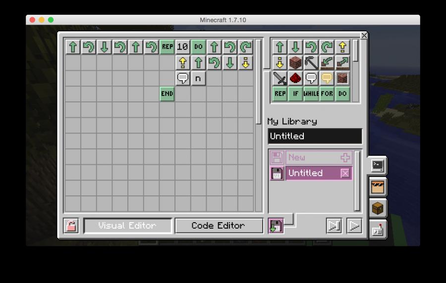 ComputerCraftEdu drag and drop editor