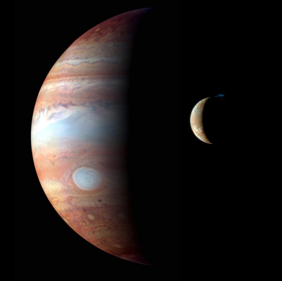 Jupiter and Io montage