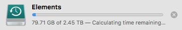 Time Machine Initial Backup